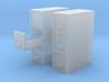 1/64 Filing Cabinet 3 drawer 3d printed