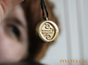 4 Elements - Air Pendant 3d printed Raw Brass