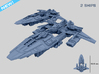 HOMEFLEET Escort Cruiser - 2 ships 3d printed HOMEFLEET Escort Cruiser