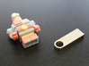 USB Robot 3d printed Place a dab of resin glue on the end of the pen drive