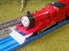 Tomy / Trackmaster Snowplough Type 5 Size 2 LEFT 3d printed Test print.  Right model shown
