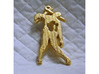 Spike The Zombie Pendant 3d printed Polished Gold Steel Spike the Zombie