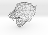 Wireframe Tiger Face 3d printed