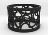 A large napkin ring with Hearts  3d printed