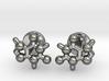 caffeine molecule cufflinks 3d printed