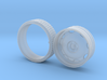 """One 1/25 Artillery wheel 22"""" Dia. with Tire 3d printed"""