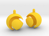 Tennisball Earrings 3d printed