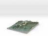 """Mount Washington Map: 8.5""""x11"""" 3d printed"""