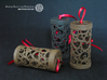 Filigree Gift roll small with Hearts (6 cm) 3d printed Own prints (FDM print) from very similar rolls made of black/brown wood incl. decorative lacing.