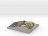 "Mount Katahdin Map: 6"" 3d printed"