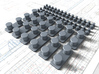 1/72 Queen Elizabeth Class Bollards (2 Sizes) 3d printed 1/72 Queen Elizabeth Class Bollards (2 Sizes)