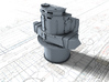 """1/350 Royal Navy Leander Class 6"""" Director 3d printed 3d render showing product detail"""