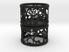 Set of 2 small tealight holders with Hearts  3d printed