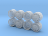 AF Caliber Dually Style Hot Wheels Truck Rims  3d printed