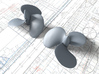 1/72 Royal Navy Tribal Class Propellers (Brass) 3d printed 3d render showing product detail
