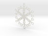 Organic Snowflake Ornament - Switzerland 3d printed
