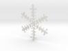 Organic Snowflake Ornament - Iceland 3d printed