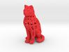Voronoi Cat Sitting 3d printed Voronoi Cat Sitting