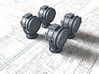 1/350 SMS Emden/Dresden 1.4M Searchlights x4 3d printed 1/350 SMS Emden/Dresden 1.4M Searchlights x4