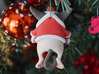 Ho Ho Hum Cat- Christmas Ornament/Tree Topper 3d printed