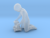 Child Kneeling w/Toy Train 3d printed