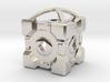 "1"" Portal Companion Cube Pendant 3d printed"