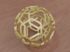 Pentagon Pattern Sphere 3d printed Polished Gold (render)
