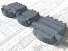 "1/350 HMS Duke of York 14"" Turrets 3d printed 3d render showing product detail"