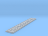 Nameplate USS Indiana BB-58 3d printed