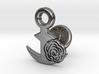 Cufflinks - Flower...Circle! 3d printed