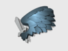 60x Black Wing : Shoulder Insignia pack 3d printed