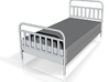 1:24 iron Bed 3d printed