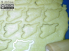 Cookie cutter (2 p.) - Map of Syria 3d printed