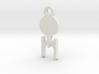 Enterprise Silhouette Charm 3d printed