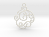 Holiday Swirl Ornament 3d printed
