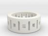Geometry ring 3d printed