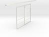 """1/64 Sliding Machine Shed Door Frame 4.5"""" x 3.25""""  3d printed"""