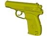 1/25 scale USSR KGB Makarov pistol x 1 3d printed