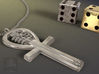 Egyptian Ankh a Replica of an ancient symbol of li 3d printed Polished Silver-Not a real image