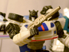 Jazz's Photon Rifle (PotP) 3d printed Polished Nickel Steel print with Reveal the Shield Jazz