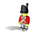British Wellington Shako  3d printed Example figurine (British Infantry) wearing the hat in black Hi-Def Acrylate