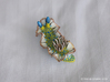 Yeri the Nudibranch 3d printed Hand Painted White Strong & Flexible Polished