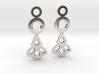 Little Flowers. Earrings 3d printed