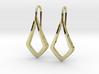 HIDDEN HEART Lucent Earrings. Pure Elegance 3d printed