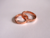 Ring with character 3d printed Rose Gold