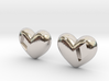 Diamond Kissed Heart Earrings (front pieces only) 3d printed