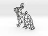 Geometic Rabbit Pendant 3d printed