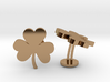 Shamrock 3 Leaf Clover Lucky Wedding Cufflinks 3d printed