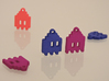 Pac Man Ghost 8-bit Earring 1 (looks down | moving 3d printed Purple Strong & Flexible Polished