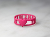 The Answer Is w/ Heart Charm, Pink Nylon Plastic 3d printed